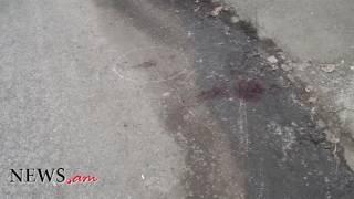 Կադրեր Վանաձորում 21 ամյա երիտասարդի սպանության վայրից