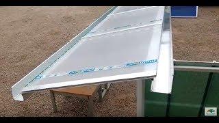 Como instalar um telhado translúcido com policarbonato e perfis de alumínio viga_calha e perfil H