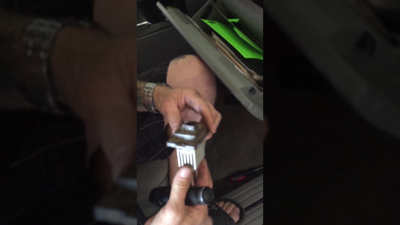 2007 Kia Sorento blower resistor location  YouTube