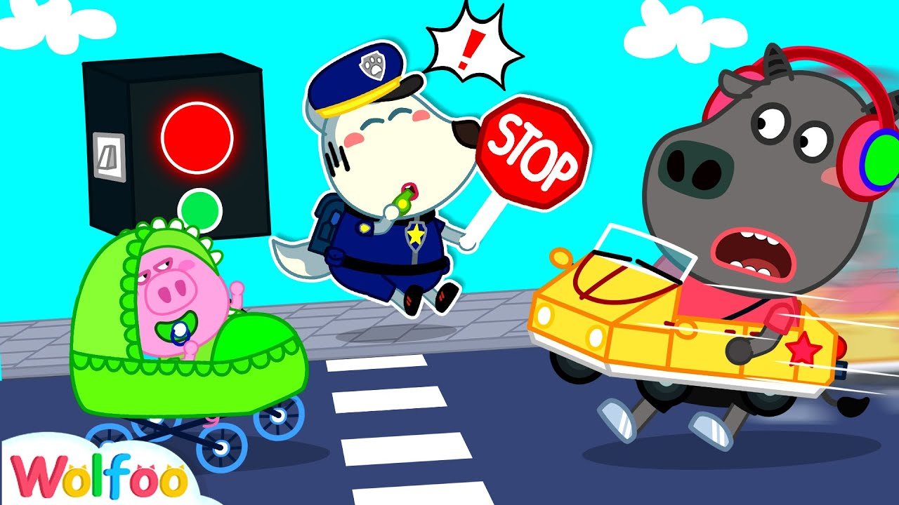 Police Wolfoo Directs Traffic - Safety Tips for Kids on Road | Wolfoo Family Kids Cartoon