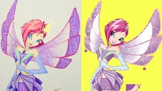 Winx Club - Tecna Drawing Painting Coloring | Boyaboya