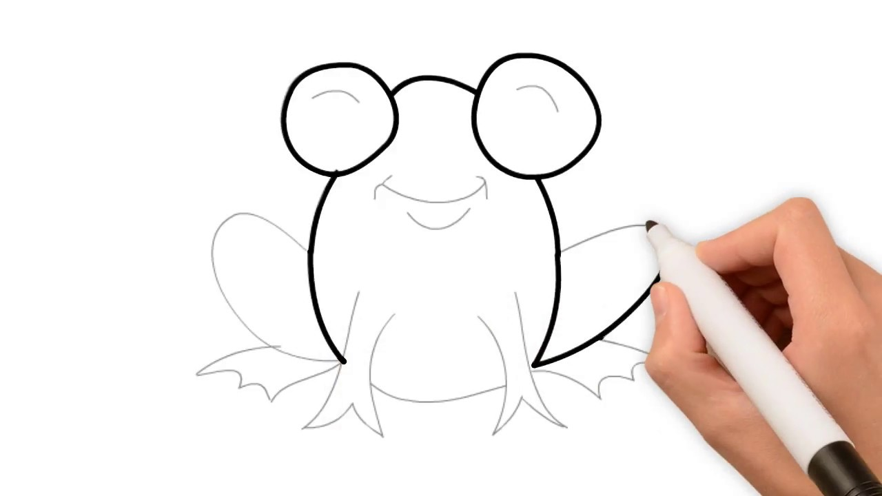 How To Draw A Frog Step By Step Easy For Beginners