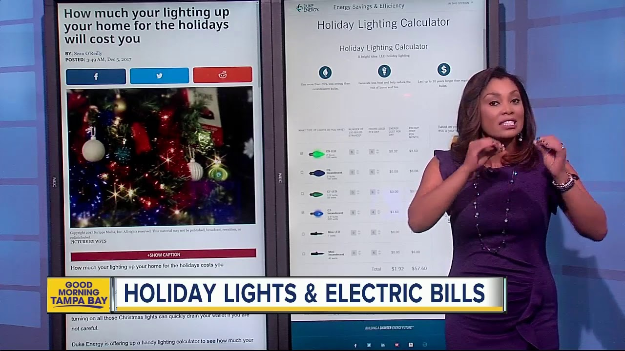 How much will your holiday lights cost you on your electric bill?