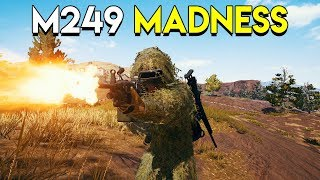 M249 MADNESS - PlayerUnknown's Battlegrounds (PUBG)