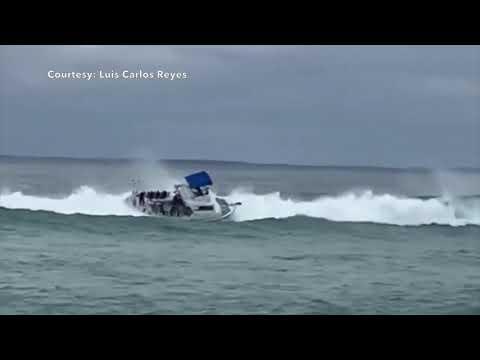 The Mo & Sally Show - Man Falls Off Boat From Choppy Waves in Boynton Beach