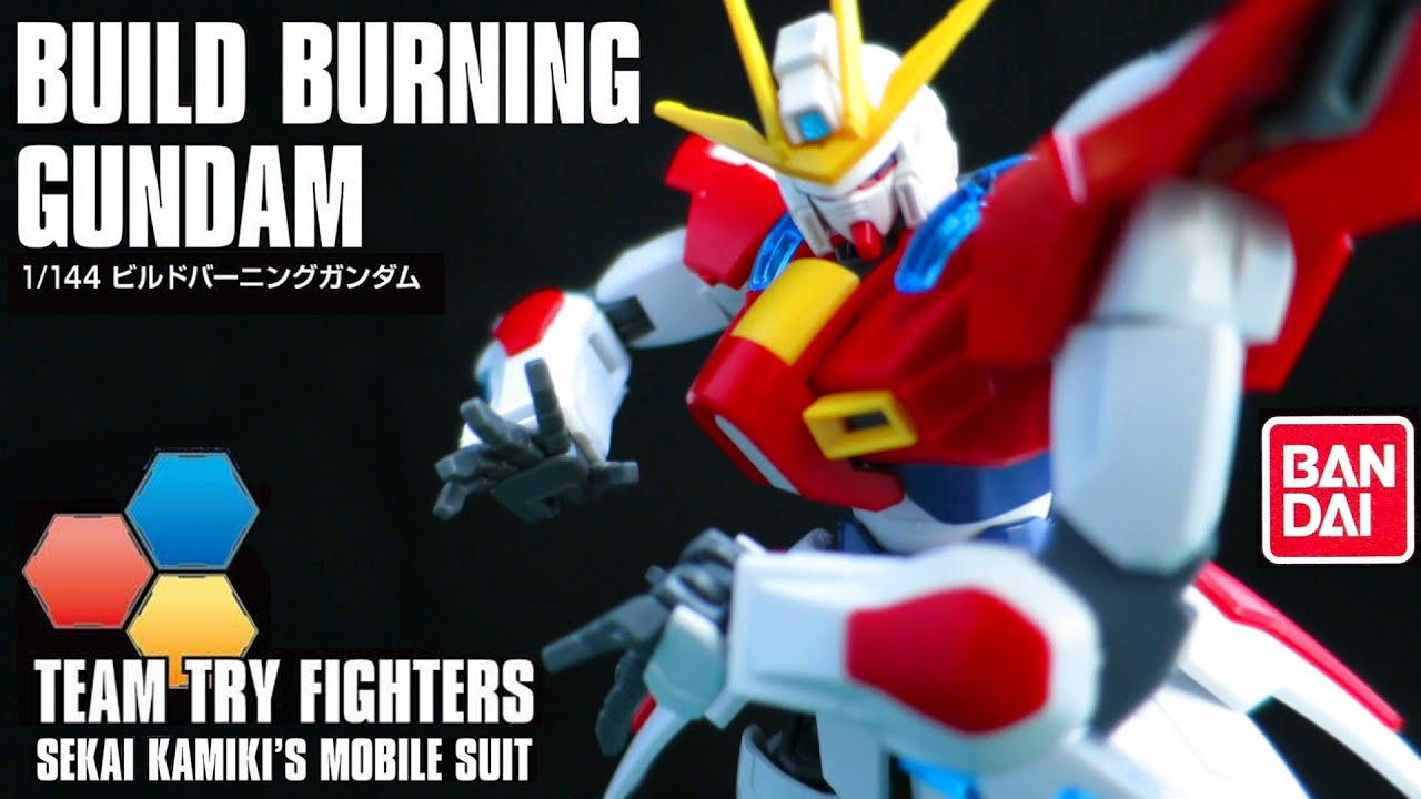 New hg build burning gundam review from build fighters for Domon kasshu build fighters try