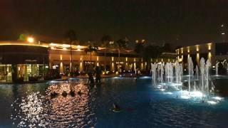 City Walk lake and fountain in Dubai 27.10.2016