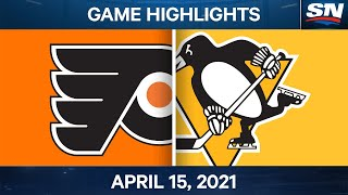 NHL Game Highlights | Flyers vs. Penguins - Apr. 15, 2021