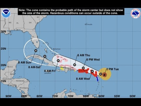 NEW - Update CAT 5 IRMA Gulf Track and 185 mph sustained winds!