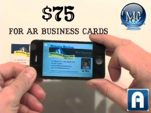 Augmented reality real estate business card youtube augmented reality real estate business card reheart Choice Image