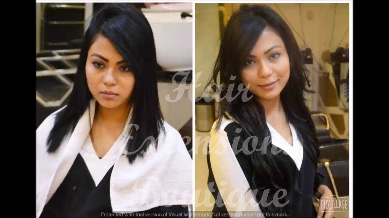 Keratin Human Hair Extensions Demo 2 For Volume Length Delhi Ncr
