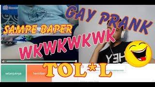 GAY PRANK MALAH KETEMU BENERAN WKWKW Ome.TV