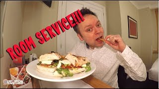 Hotel Room Service Mukbang - Strand Palace, London - Very unOfficial Travel Guides