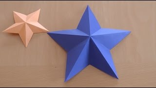 How to fold star paper - origami star 3D easy step by step