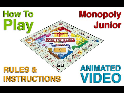 How To Play Monopoly Junior Party Game - Monopoly Kids Board Games Rules & Instructions