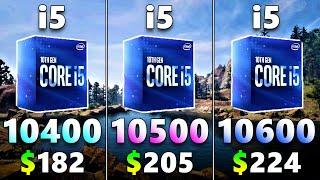 Core i5 10400 vs 10500 vs 10600 | Tested in 16 PC Games