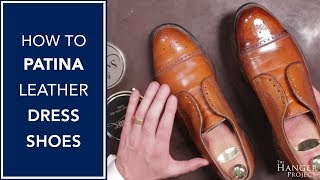 How To Patina Leather Dress Shoes | Kirby Allison