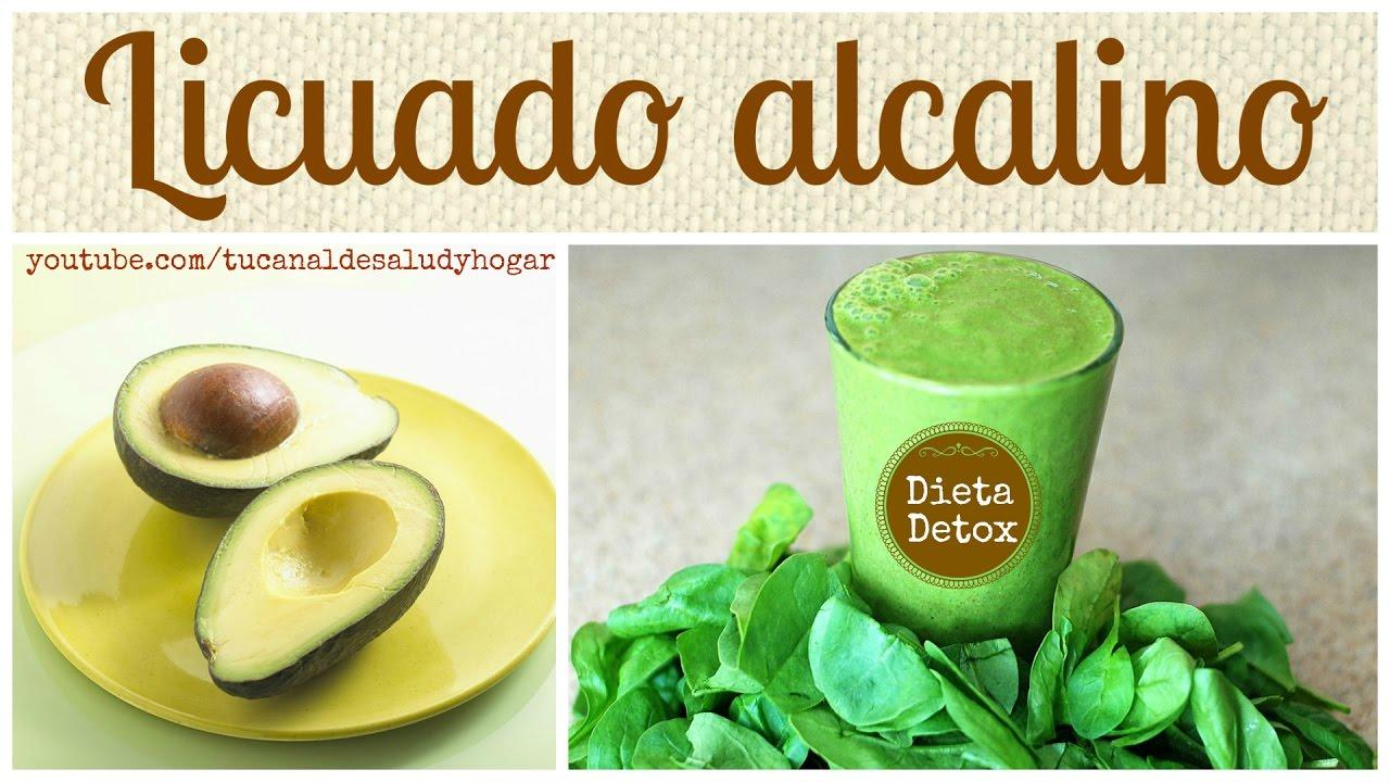 Licuado alcalino (dieta detox) - YouTube