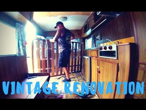 Update Renovating An Old Vintage Retro Caravan | Pull Behind Camper