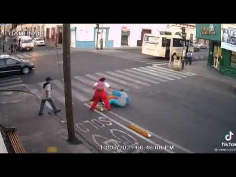 Caídas peatones Puebla