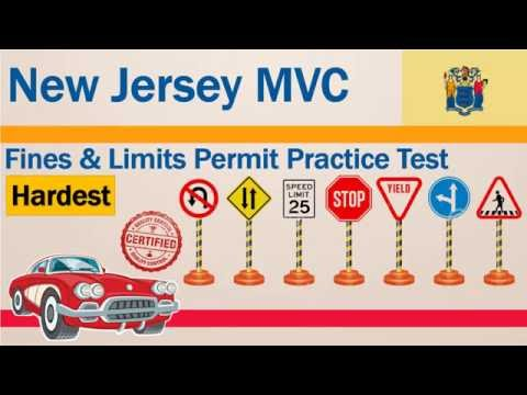 New Jersey MVC Fines And Limits Permit Practice Test (Hardest)