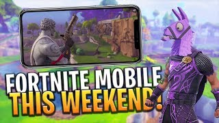 FORTNITE MOBILE RELEASE DATE THIS WEEKEND! + FREE CODES! iOS / ANDROID - Fortnite: Battle Royale