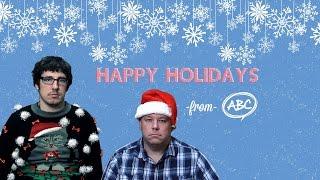 abc creative group holiday video card 2015 secret santa
