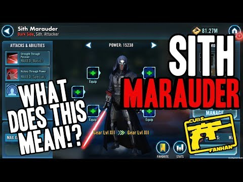 SWGOH : Sith Marauder Reveal- More KOTOR/SWTOR Content Inbound?!
