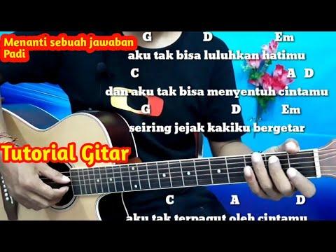 Chord Menanti Sebuah Jawaban Padi - Tutorial Gitar By Darmawan Gitar