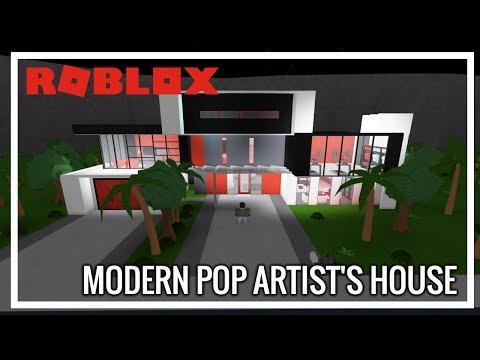 ROBLOX | Welcome To Bloxburg | Modern Pop Artist's House