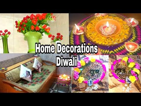 #DiwaliDecoration Ideas Home Entrance / Simple Easy DIY Ideas For Diwali  Home Decoration Tips