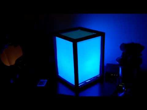 Led lamp (wood/paper) DIY