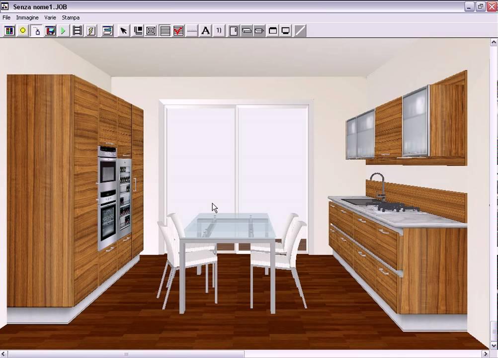 1 cucina moderna disegno pianta youtube for Disegnare la pianta del piano di casa