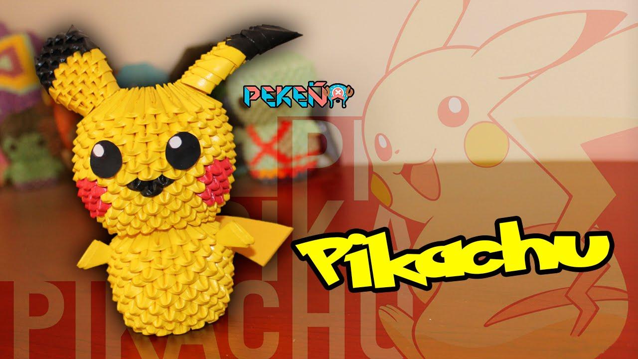 Pikachu 3D Origami