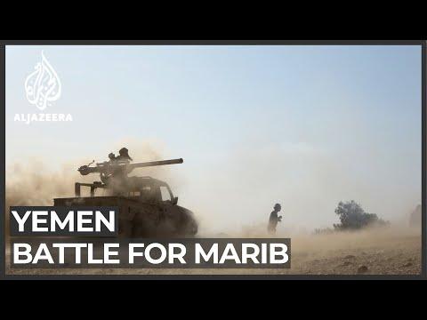 Saudi Arabia thwarts missiles while Yemen's Marib fighting rages