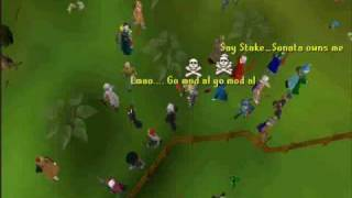 Runescape Jagex mod (staff member) pwning bots at flax fields!