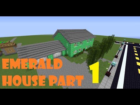 Minecraft Let's Build! Emerald House Part 1!
