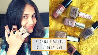 6 Favorite Nude Nail Paints | Rs. 35 to Rs. 250