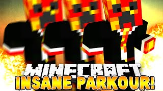 Minecraft - INSANE X-RUN PARKOUR! (Crazy Jumps & Speed Boosts!) w/Preston, Kenny & Pete