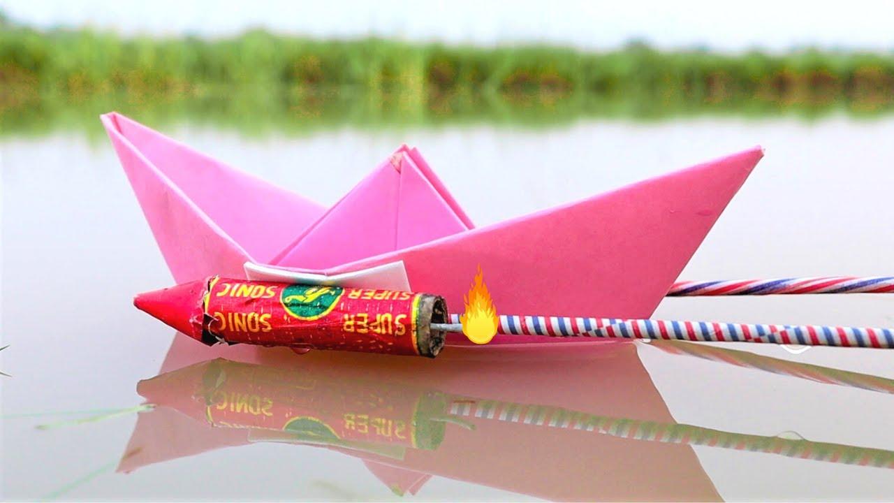 Download Diwali Rockets Attached On Boat   Will it Swim On Rocket Power?