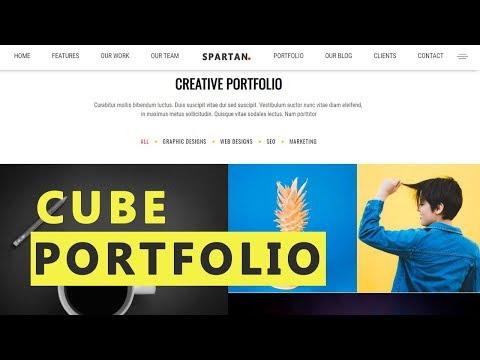 CubePortfolio And Lightbox Gallery Effect  HTML, CSS 3, JQuery - Website Design