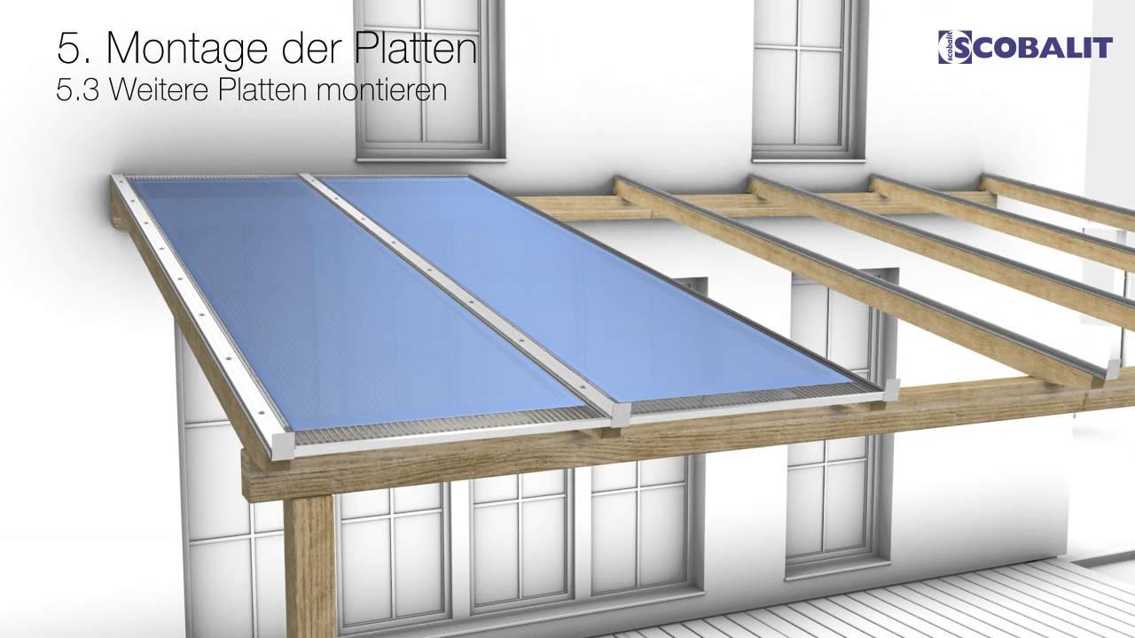verlegung hohlkammerplatten mit schraubprofilsystem von scobalit youtube. Black Bedroom Furniture Sets. Home Design Ideas