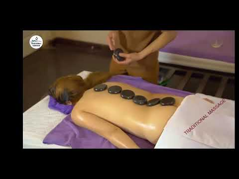 HOT Stone Massage Technique l Therapy relaxing low back pain relief l Massage Parlor