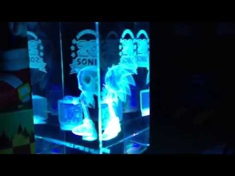 Sonic the hedgehog 20th anniversary crystal cube lit up