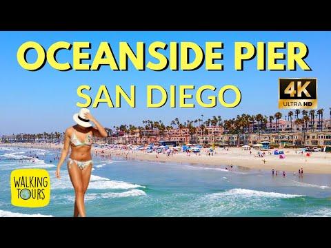 Oceanside Pier | San Diego | CA  | 4K Walking Tour