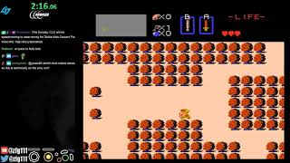 Legend of Zelda 2nd Quest any% (arbitrary code execution) speedrun in 3:18