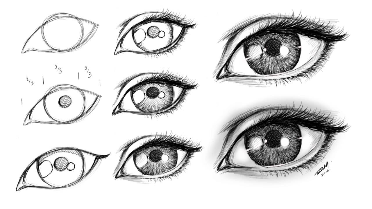 How To Draw A Female Eye Step By Step Youtube