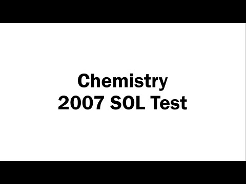 Chemistry 2007 SOL Test