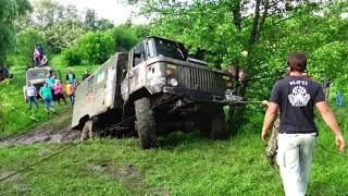 ГАЗ 66 пытыемся положить на бок off-road 4x4
