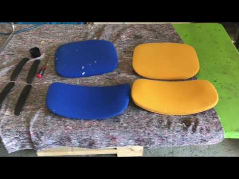 Verrassend Stoffering gispen/de wit stoeltjes meubelstofferen - YouTube DZ-29